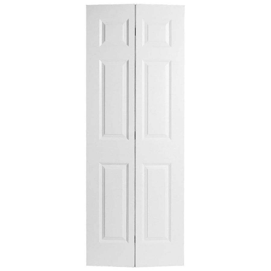 Masonite Hollow Core 6-Panel Bi-Fold Closet Interior Door (Common: 30-in x 80-in; Actual: 29.5-in x 79-in)