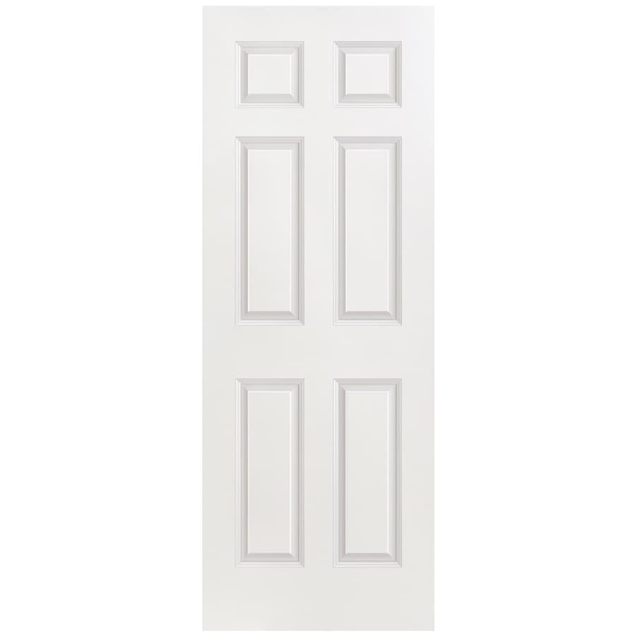 Masonite Hollow Core 6-Panel Slab Interior Door (Common: 30-in x 80-in; Actual: 30-in x 80-in)