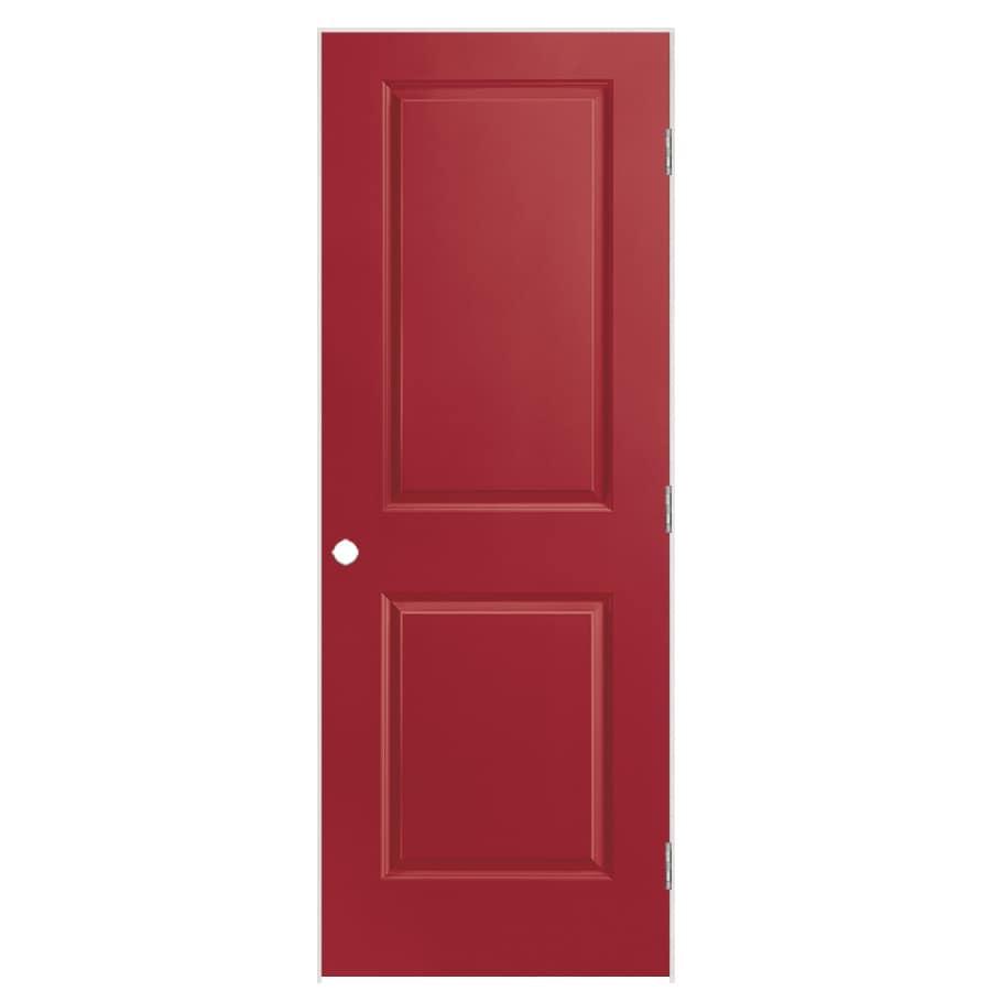 Masonite Classics Barn Red 2-panel Square Single Prehung Interior Door (Common: 30-in X 80-in; Actual: 31.5-in x 81.5-in)