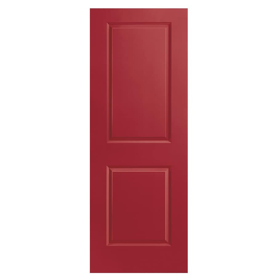 Masonite Barn Red Hollow Core 2-Panel Square Slab Interior Door (Common: 30-in x 80-in; Actual: 30-in x 80-in)
