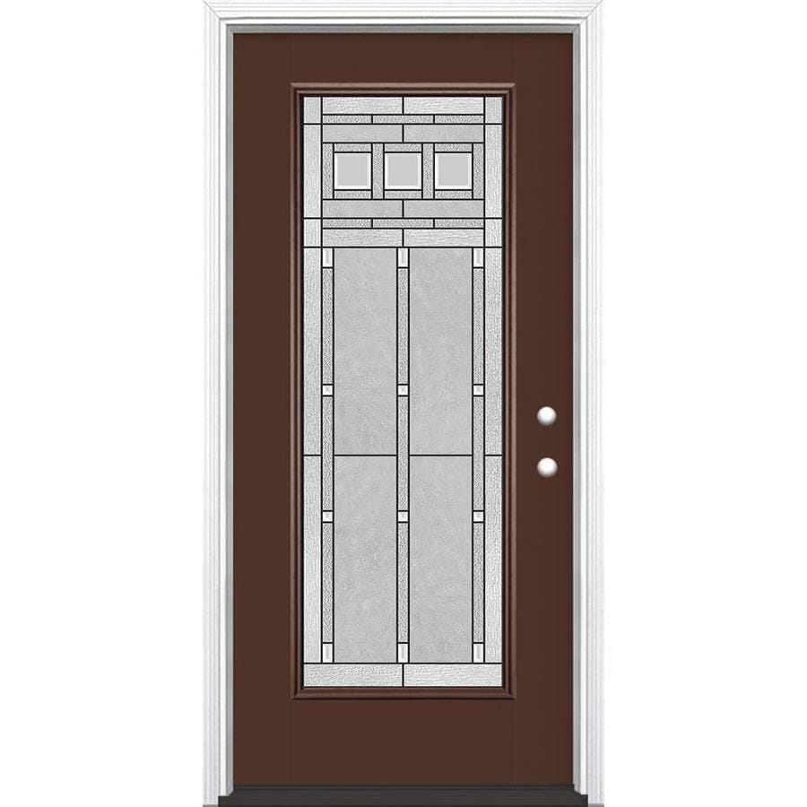 Shop masonite craftsman decorative glass left hand inswing for Masonite exterior doors