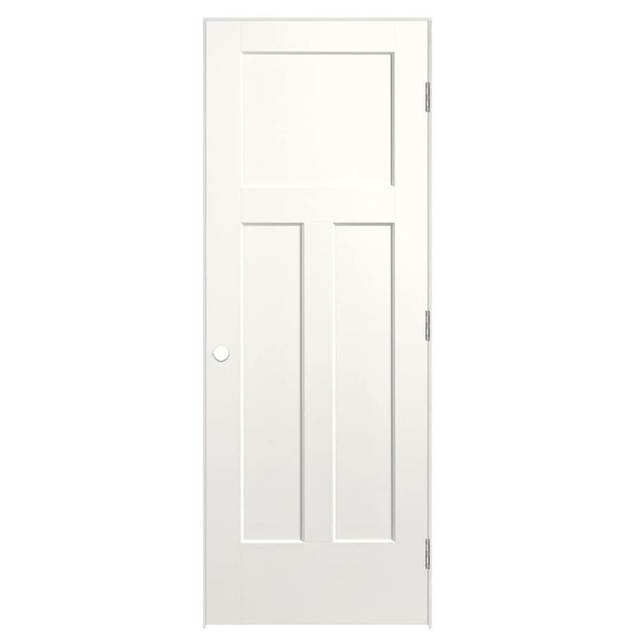 Masonite Heritage Snow Storm Hollow Core Molded Composite Prehung Interior Door (Common: 24-in x 80-in; Actual: 25.5-in x 81.5-in)