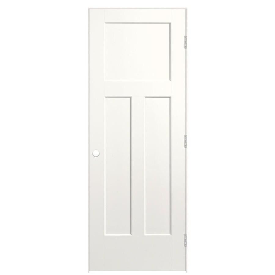 Masonite Winslow Snow Storm Prehung Hollow Core 3-Panel Craftsman Interior Door (Common: 28-in x 80-in; Actual: 29.5-in x 81.5-in)