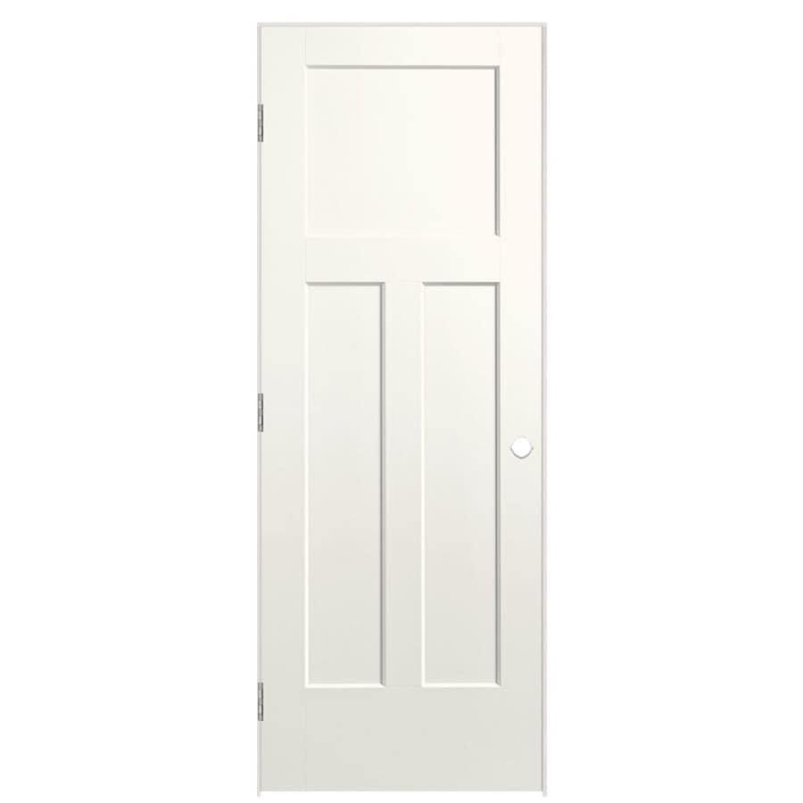 Masonite Winslow White Prehung Hollow Core 3-Panel Craftsman Interior Door (Common: 36-in x 80-in; Actual: 37.5-in x 81.5-in)