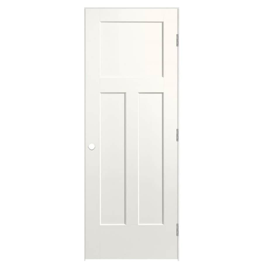 Shop Masonite Winslow White 3 Panel Craftsman Single