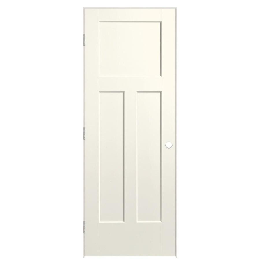 Masonite Winslow Moonglow Prehung Hollow Core 3-Panel Craftsman Interior Door (Common: 30-in x 80-in; Actual: 31.5-in x 81.5-in)