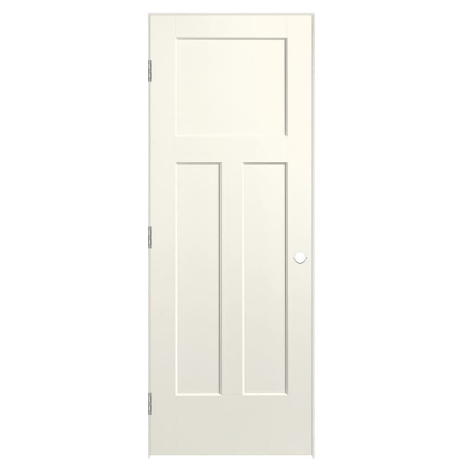 Masonite Winslow Moonglow 3-panel Craftsman Single Prehung Interior Door (Common: 32-in x 80-in; Actual: 33.5-in x 81.5-in)