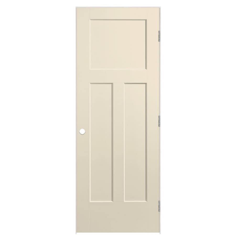 Masonite Winslow Cream-N-Sugar Prehung Hollow Core 3-Panel Craftsman Interior Door (Common: 28-in x 80-in; Actual: 29.5-in x 81.5-in)