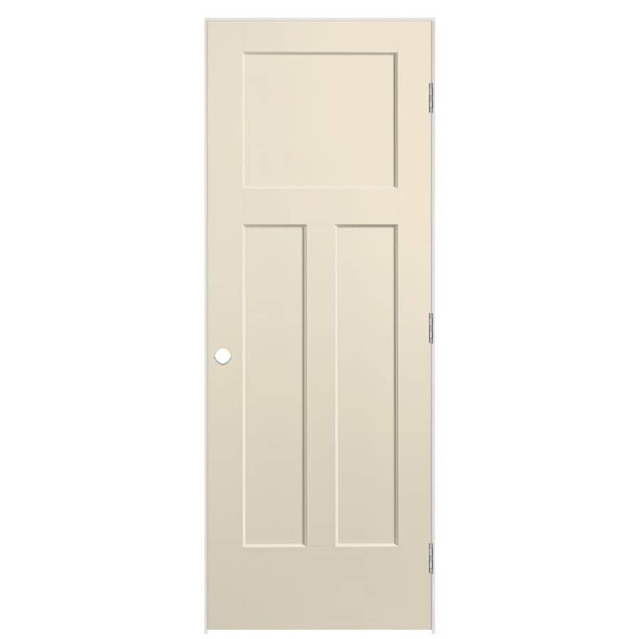 Masonite Winslow Cream-N-Sugar Hollow Core Molded Composite Single Prehung Interior Door (Common: 30-in x 80-in; Actual: 31.5-in x 81.5-in)