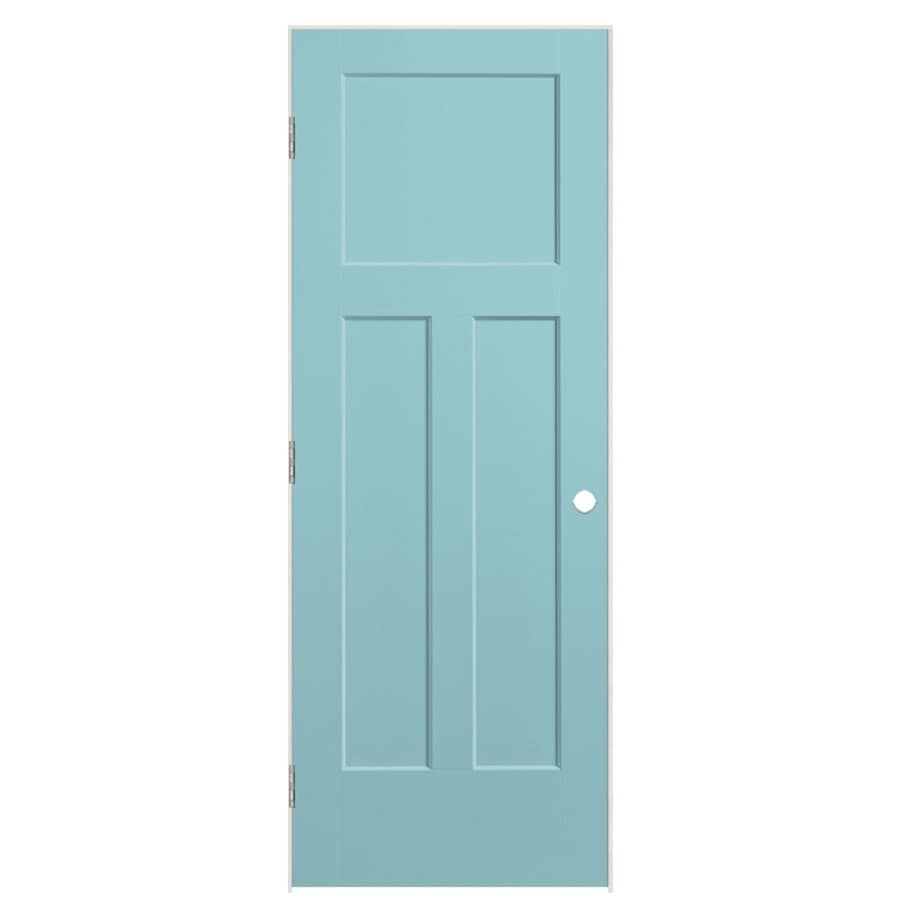 Masonite Winslow Sea Mist 3-panel Craftsman Single Prehung Interior Door (Common: 24-in x 80-in; Actual: 25.5-in x 81.5-in)