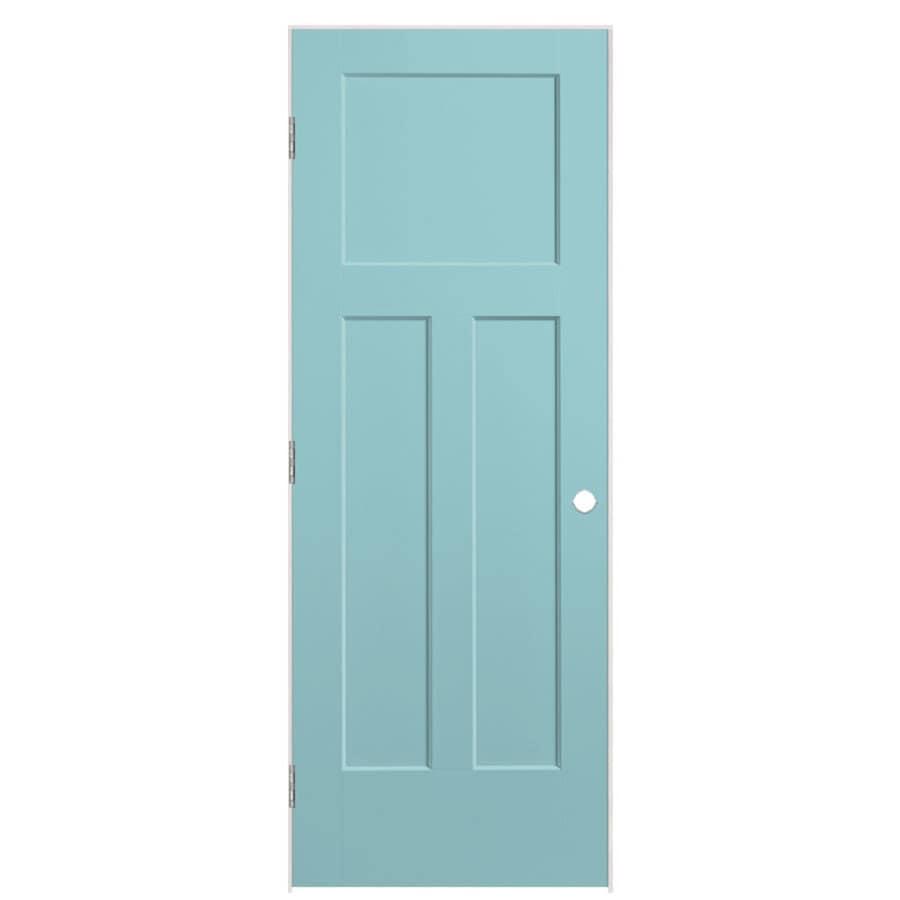 Masonite Winslow Sea Mist 3-panel Craftsman Single Prehung Interior Door (Common: 30-in X 80-in; Actual: 31.5-in x 81.5-in)