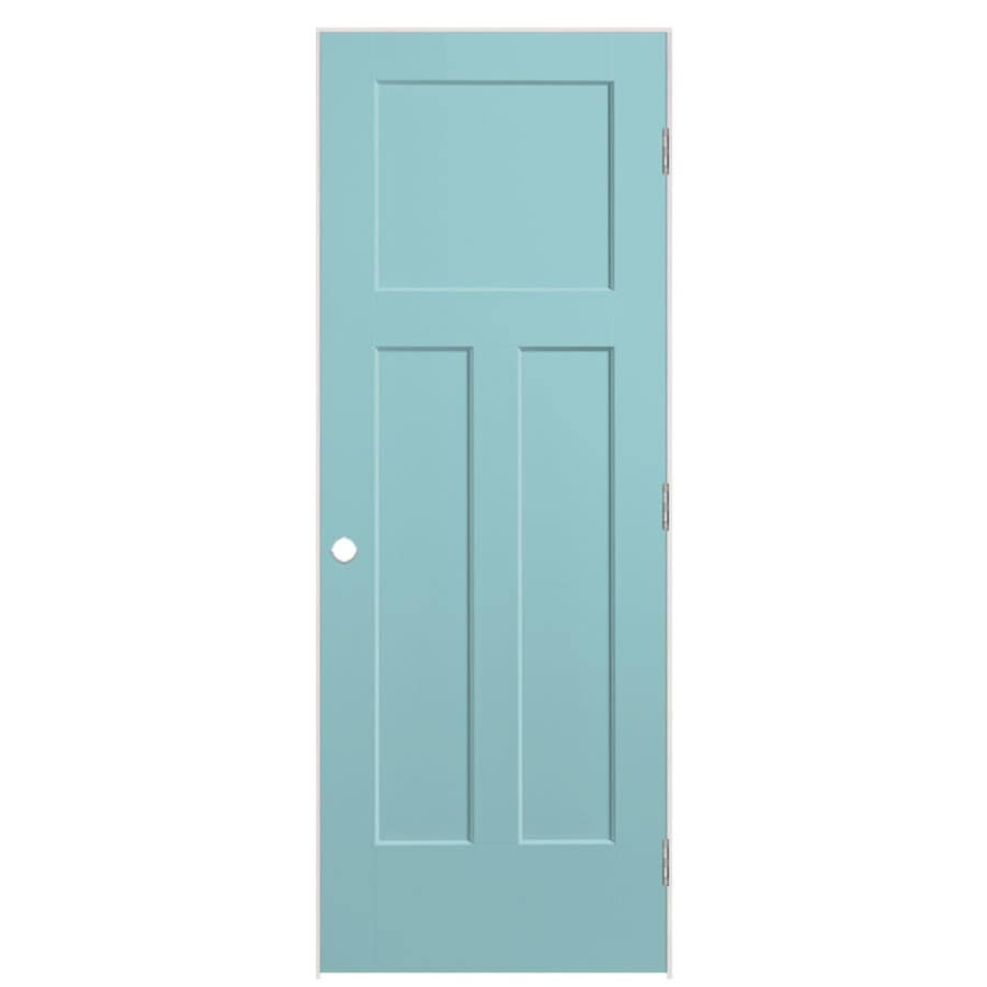 Masonite Winslow Sea Mist Prehung Hollow Core 3-Panel Craftsman Interior Door (Common: 32-in x 80-in; Actual: 33.5-in x 81.5-in)