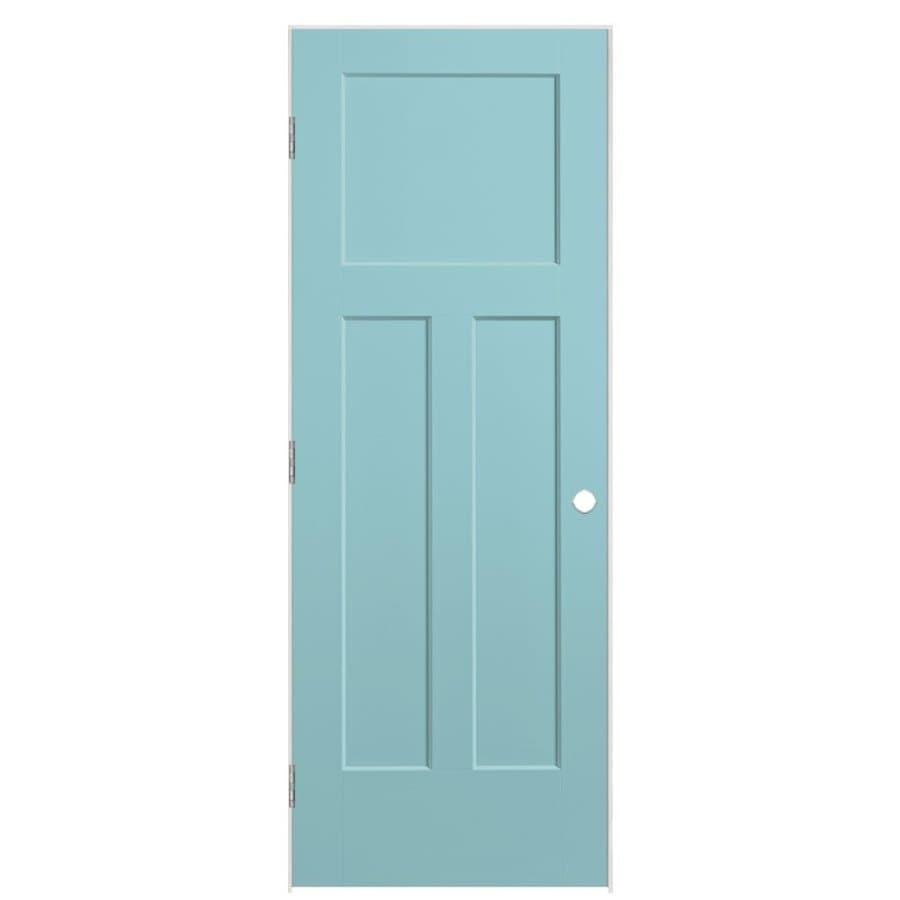 Masonite Winslow Sea Mist 3-panel Craftsman Single Prehung Interior Door (Common: 36-in X 80-in; Actual: 37.5-in x 81.5-in)