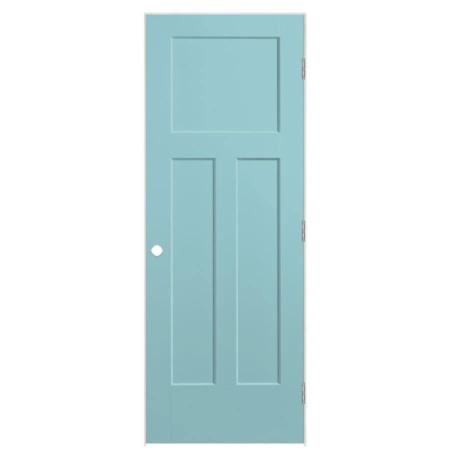 Masonite Winslow Sea Mist Prehung Hollow Core 3-Panel Craftsman Interior Door (Common: 36-in x 80-in; Actual: 37.5-in x 81.5-in)