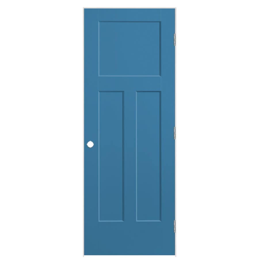 Masonite Winslow Blue Heron 3-panel Craftsman Single Prehung Interior Door (Common: 28-in x 80-in; Actual: 29.5-in x 81.5-in)