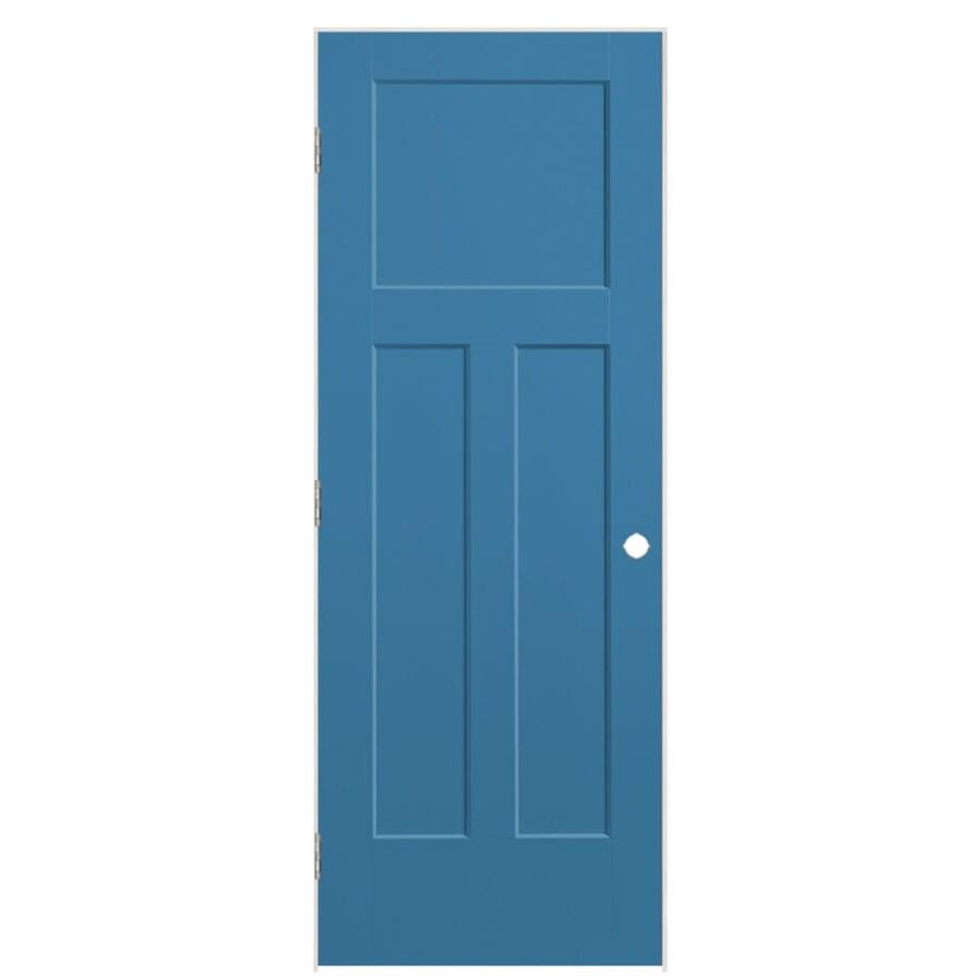 Masonite Winslow Blue Heron Prehung Hollow Core 3-Panel Craftsman Interior Door (Common: 30-in x 80-in; Actual: 31.5-in x 81.5-in)