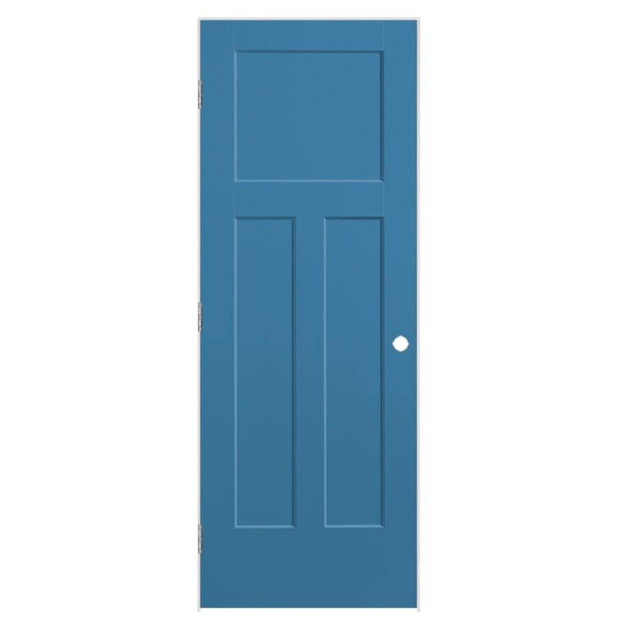 Masonite Winslow Blue Heron 3-panel Craftsman Single Prehung Interior Door (Common: 32-in x 80-in; Actual: 33.5-in x 81.5-in)