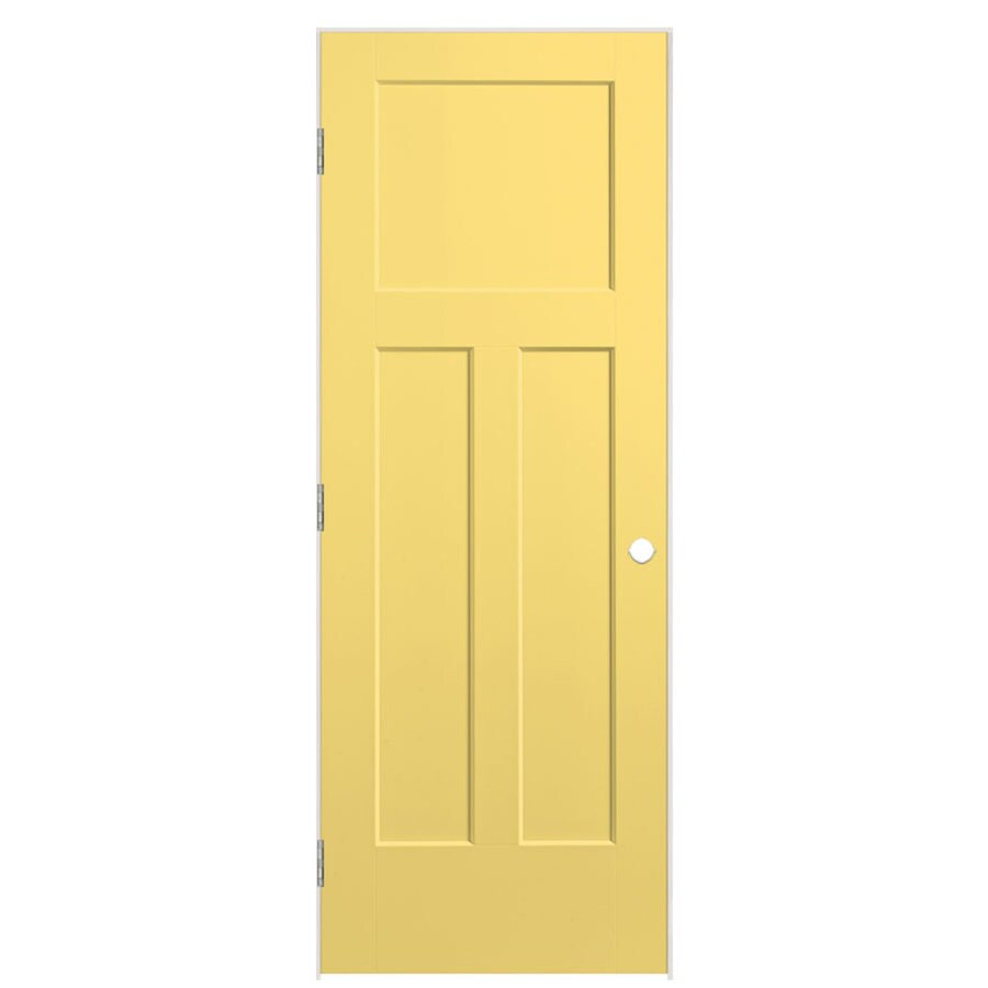 Masonite Winslow Marigold 3-panel Craftsman Single Prehung Interior Door (Common: 32-in X 80-in; Actual: 33.5-in x 81.5-in)