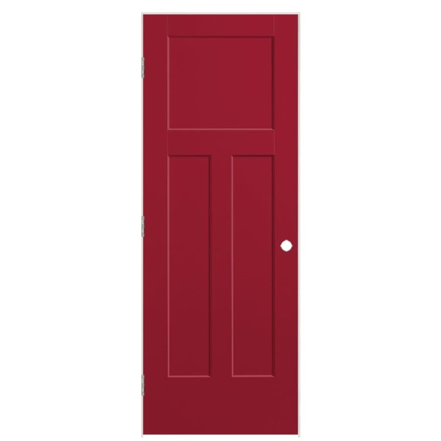 Masonite Heritage Barn Red Hollow Core Molded Composite Prehung Interior Door (Common: 28-in x 80-in; Actual: 29.5-in x 81.5-in)