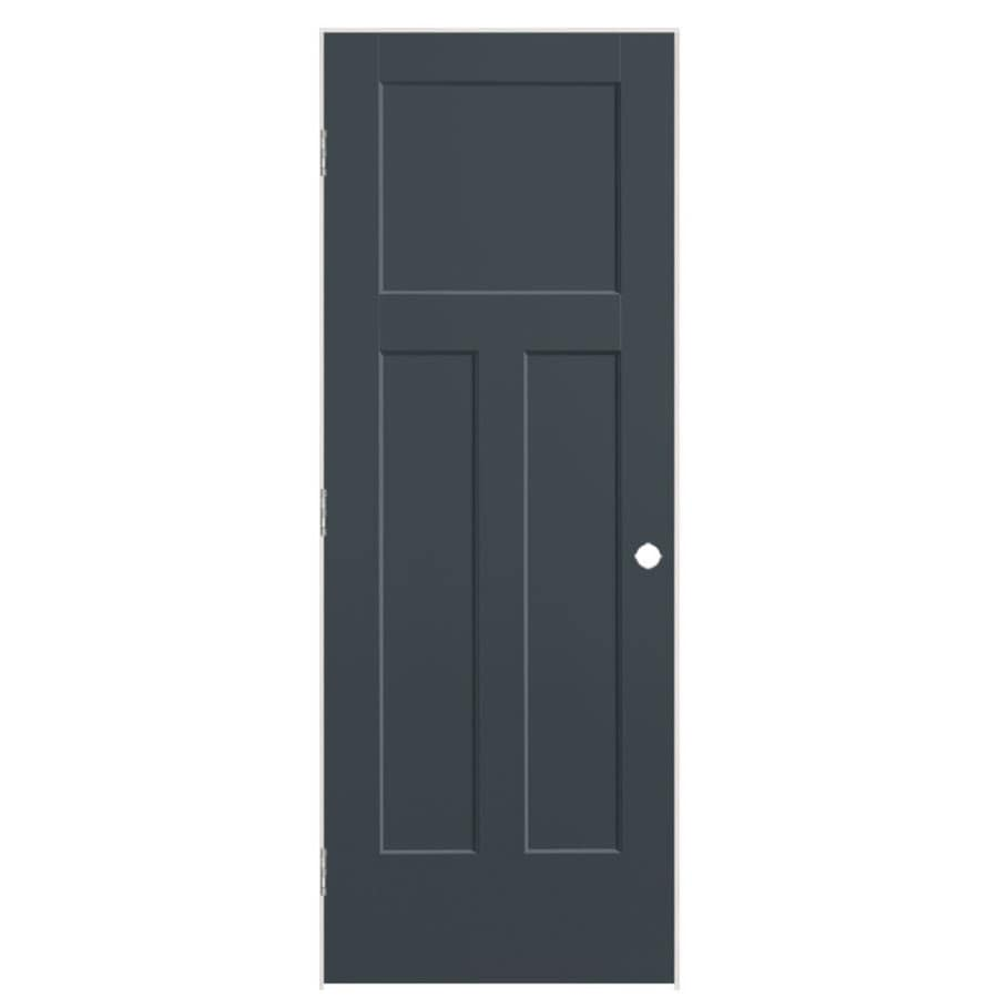 Masonite Winslow Slate 3-panel Craftsman Single Prehung Interior Door (Common: 28-in X 80-in; Actual: 29.5-in x 81.5-in)
