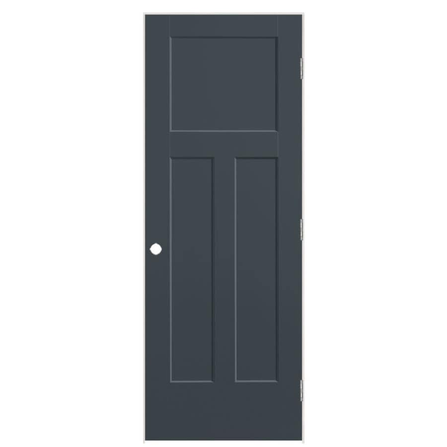 Shop Masonite Winslow Slate 3 Panel Craftsman Single