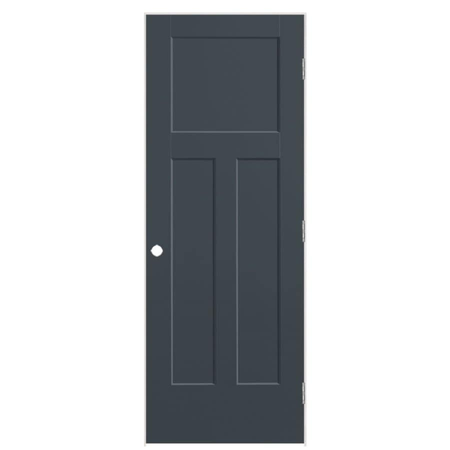 Masonite Winslow Slate Prehung Hollow Core 3-Panel Craftsman Interior Door (Common: 36-in x 80-in; Actual: 37.5-in x 81.5-in)