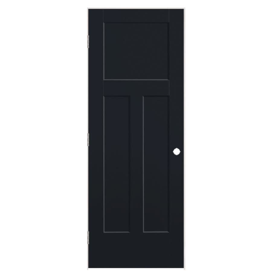 Masonite Winslow Midnight 3-panel Craftsman Single Prehung Interior Door (Common: 32-in x 80-in; Actual: 33.5-in x 81.5-in)