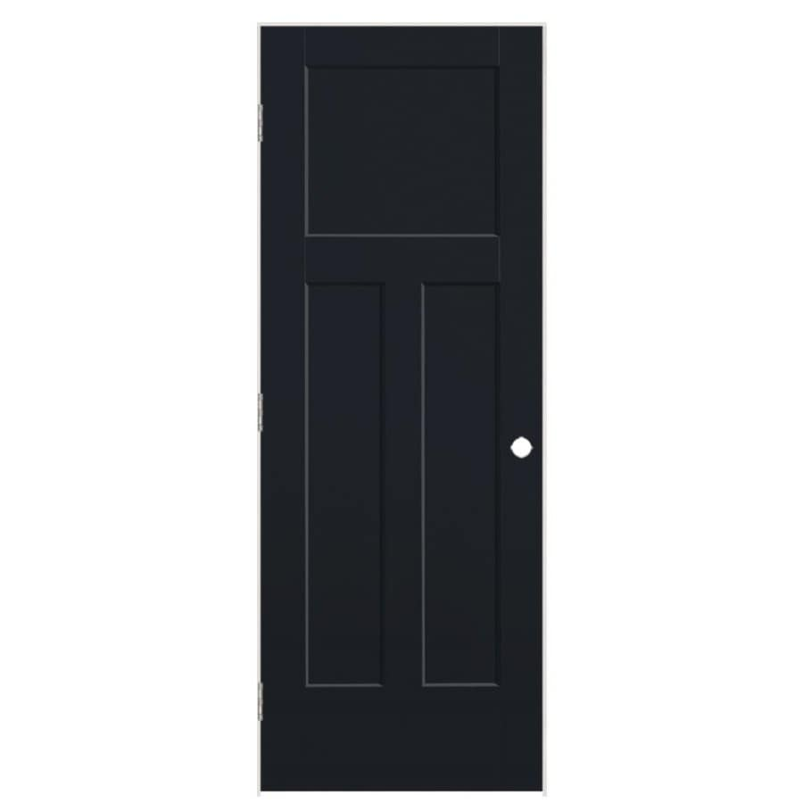 Masonite Winslow Midnight Hollow Core Molded Composite Single Prehung Interior Door (Common: 36-in x 80-in; Actual: 37.5-in x 81.5-in)