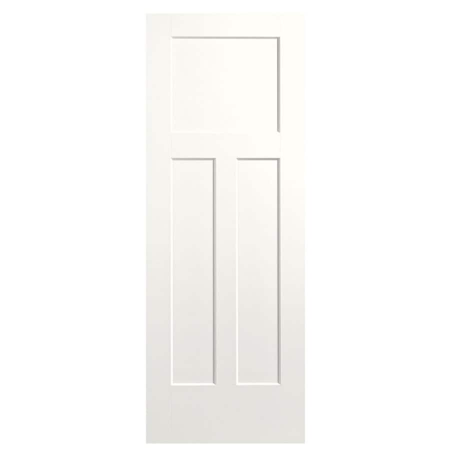 Masonite Winslow Snow Storm Hollow Core Molded Composite Slab Interior Door (Common: 36-in x 80-in; Actual: 37.5-in x 81.5-in)