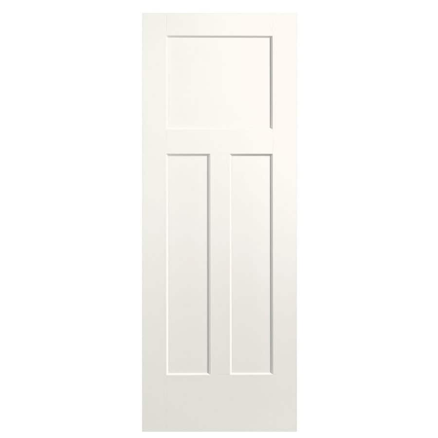 Masonite Winslow White 3-panel Craftsman Slab Interior Door (Common: 30-in x 80-in; Actual: 31.5-in x 81.5-in)