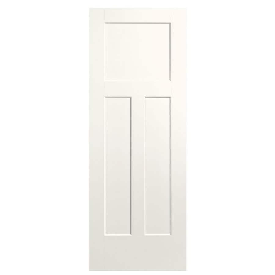 Masonite Winslow White Hollow Core 3-Panel Craftsman Slab Interior Door (Common: 32-in x 80-in; Actual: 33.5-in x 81.5-in)