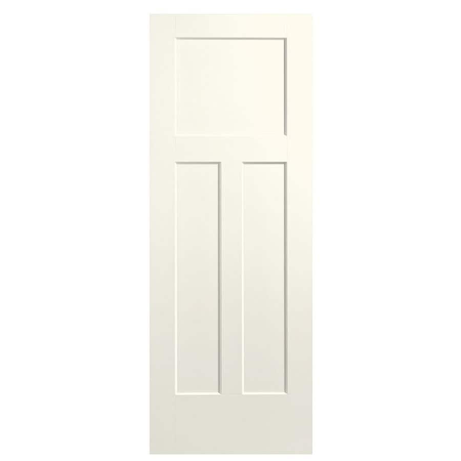 Masonite Winslow Moonglow 3-panel Craftsman Slab Interior Door (Common: 32-in X 80-in; Actual: 33.5-in x 81.5-in)