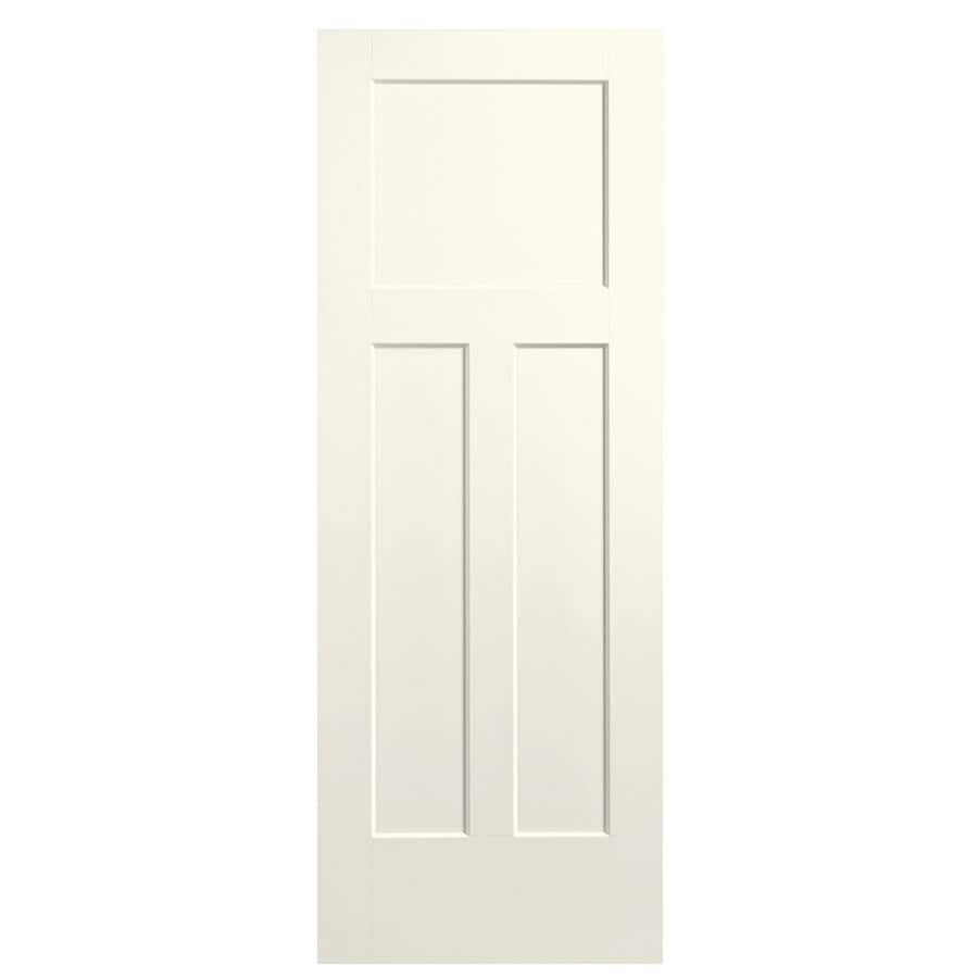 Masonite Winslow Moonglow Hollow Core 3-Panel Craftsman Slab Interior Door (Common: 36-in x 80-in; Actual: 37.5-in x 81.5-in)