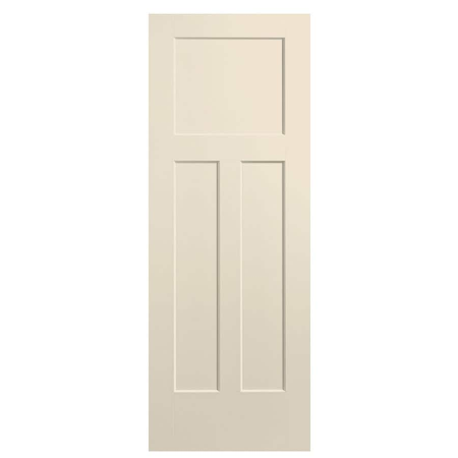 Masonite Winslow Cream-N-Sugar Hollow Core 3-Panel Craftsman Slab Interior Door (Common: 28-in x 80-in; Actual: 29.5-in x 81.5-in)