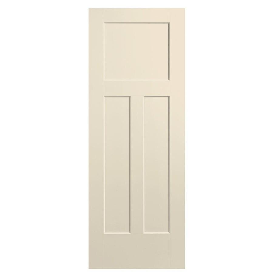Masonite Winslow Cream-N-Sugar Hollow Core 3-Panel Craftsman Slab Interior Door (Common: 32-in x 80-in; Actual: 33.5-in x 81.5-in)