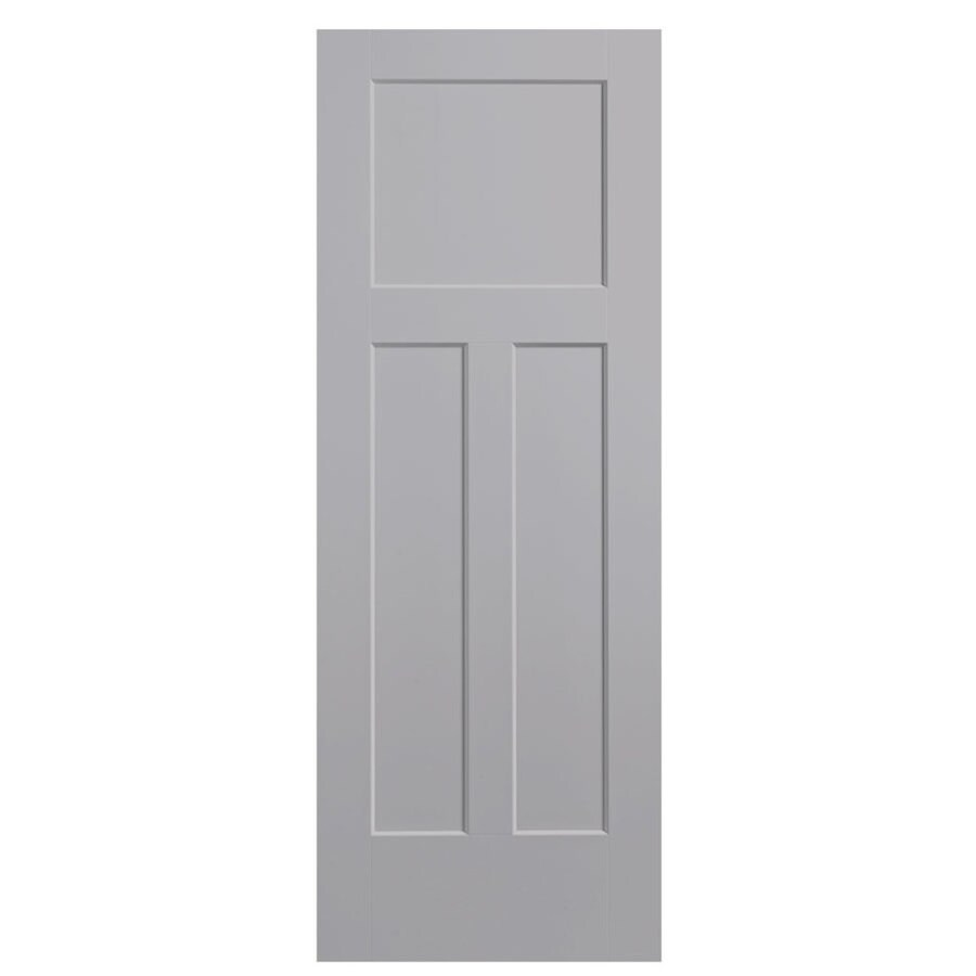 Masonite Winslow Driftwood Hollow Core 3-Panel Craftsman Slab Interior Door (Common: 28-in x 80-in; Actual: 29.5-in x 81.5-in)