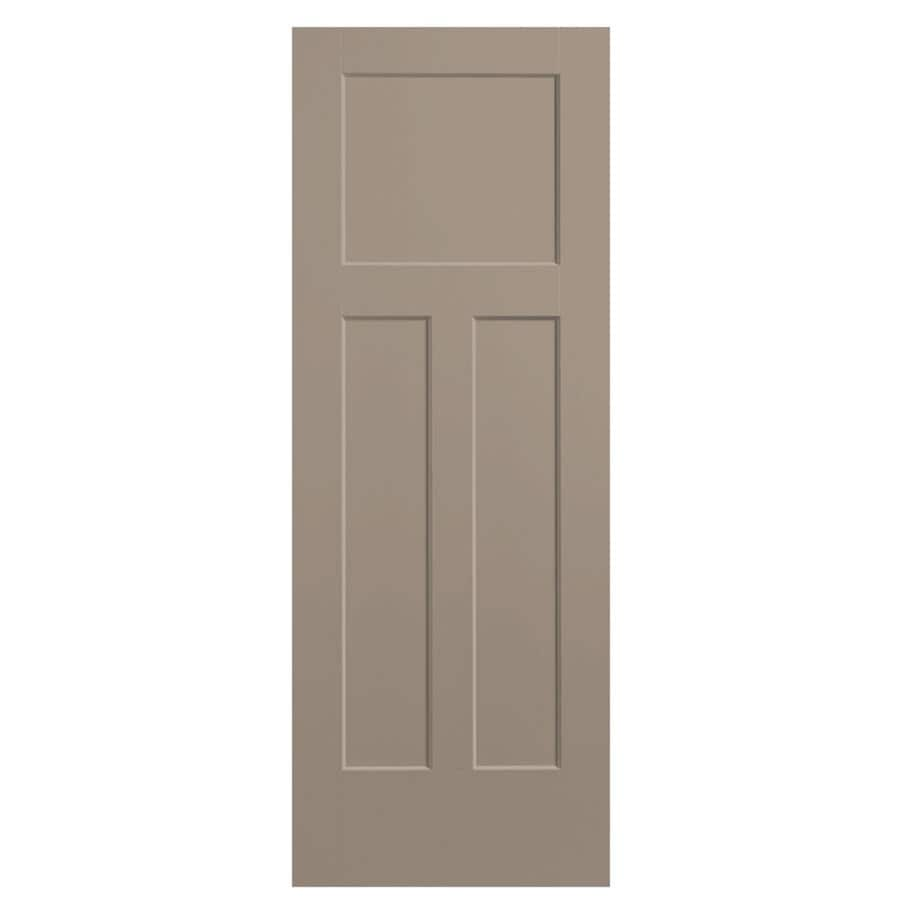 Masonite Winslow Sand Piper Hollow Core 3-Panel Craftsman Slab Interior Door (Common: 28-in x 80-in; Actual: 29.5-in x 81.5-in)