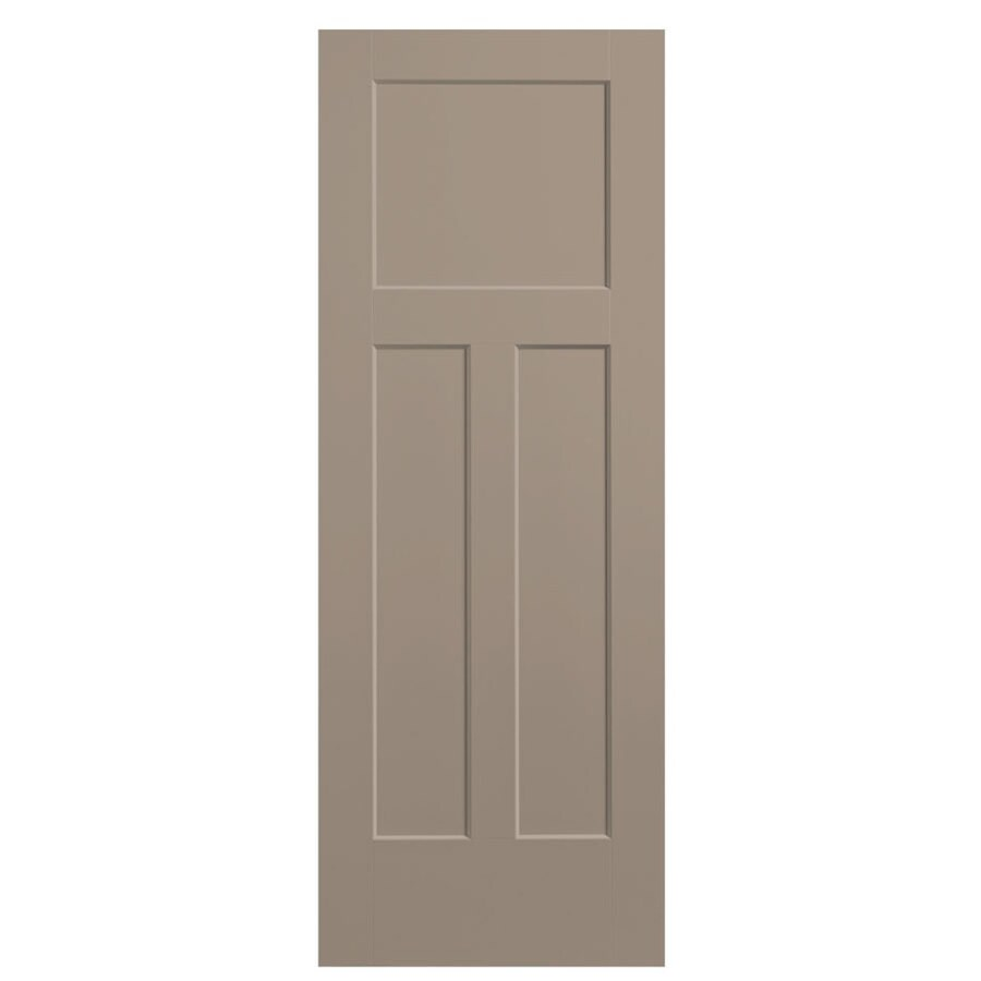 Masonite Sand Piper 3 Panel Craftsman Hollow Core Molded Composite Slab Door Common