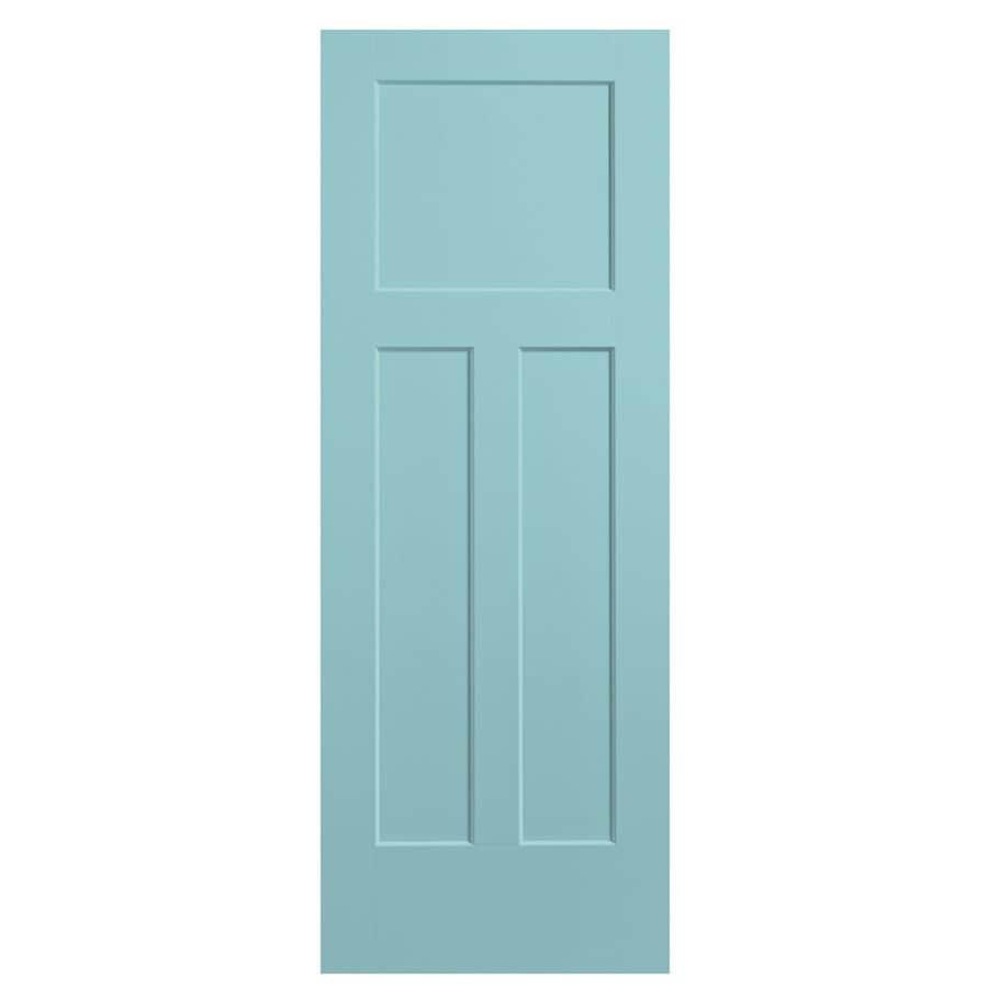 Masonite Winslow Sea Mist 3-panel Craftsman Slab Interior Door (Common: 28-in X 80-in; Actual: 29.5-in x 81.5-in)