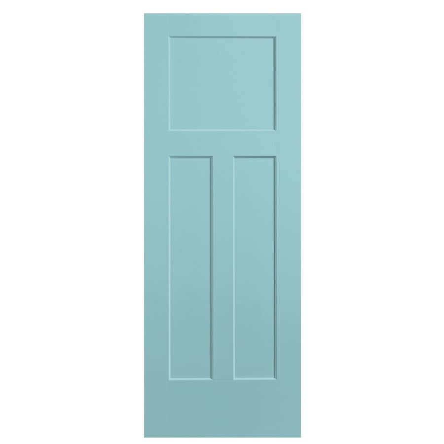 Masonite Winslow Sea Mist Hollow Core 3-Panel Craftsman Slab Interior Door (Common: 32-in x 80-in; Actual: 33.5-in x 81.5-in)