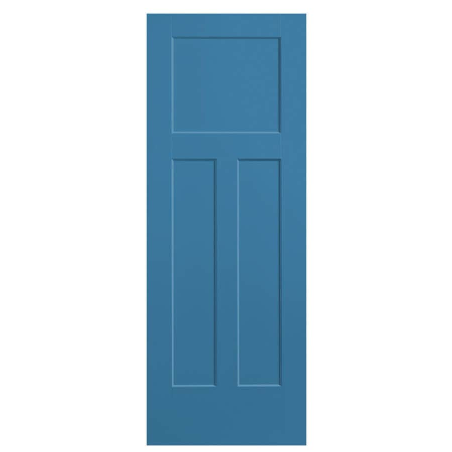 Masonite Winslow Blue Heron Hollow Core 3-Panel Craftsman Slab Interior Door (Common: 28-in x 80-in; Actual: 29.5-in x 81.5-in)