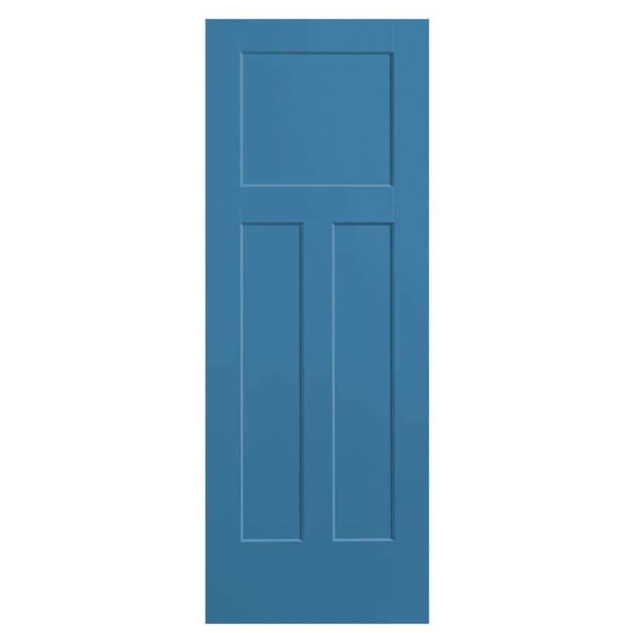 Masonite Winslow Blue Heron Hollow Core 3-Panel Craftsman Slab Interior Door (Common: 30-in x 80-in; Actual: 31.5-in x 81.5-in)
