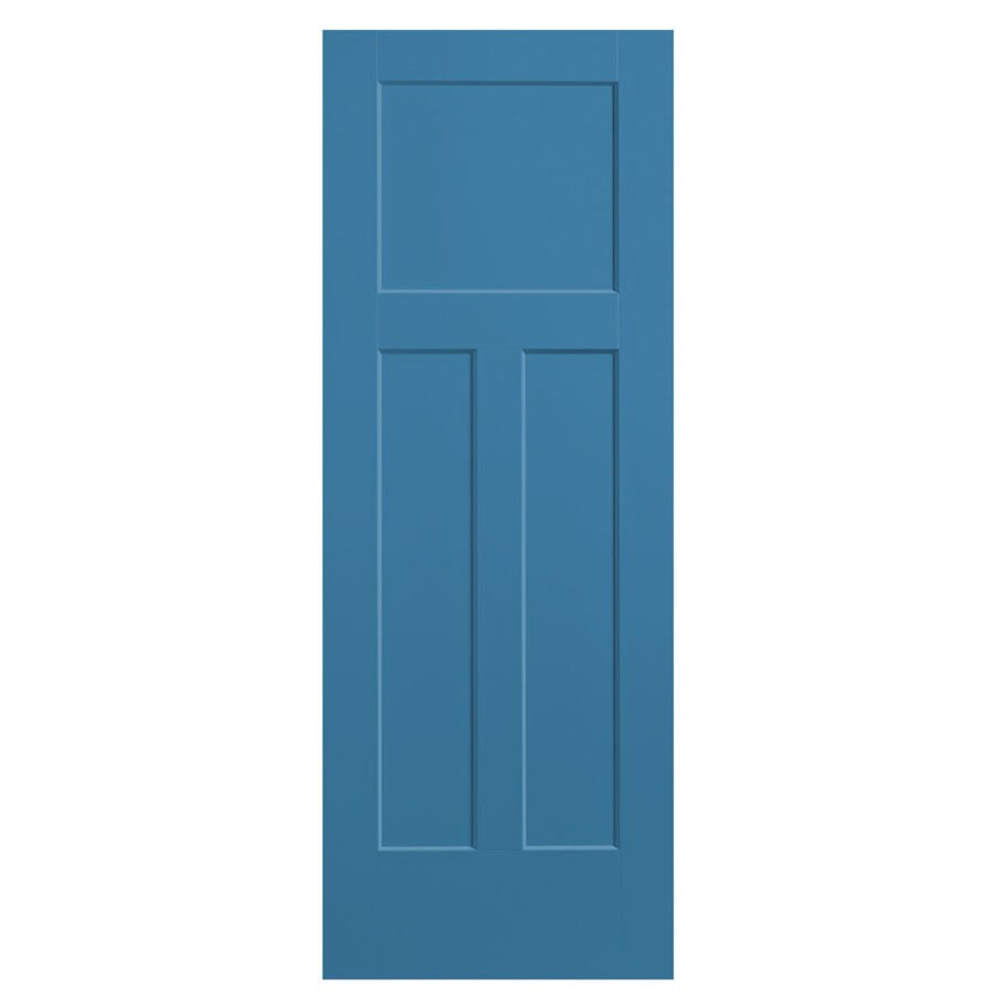 Shop Masonite Blue Heron 3 Panel Craftsman Hollow Core Molded Composite Slab Door Common 32 In