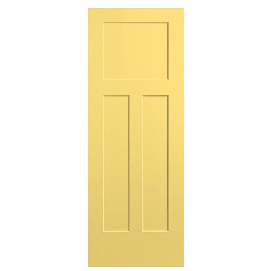 Masonite Winslow Marigold 3-panel Craftsman Slab Interior Door (Common: 36-in x 80-in; Actual: 37.5-in x 81.5-in)