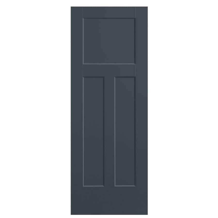 Masonite Winslow Slate Hollow Core 3-Panel Craftsman Slab Interior Door (Common: 28-in x 80-in; Actual: 29.5-in x 81.5-in)