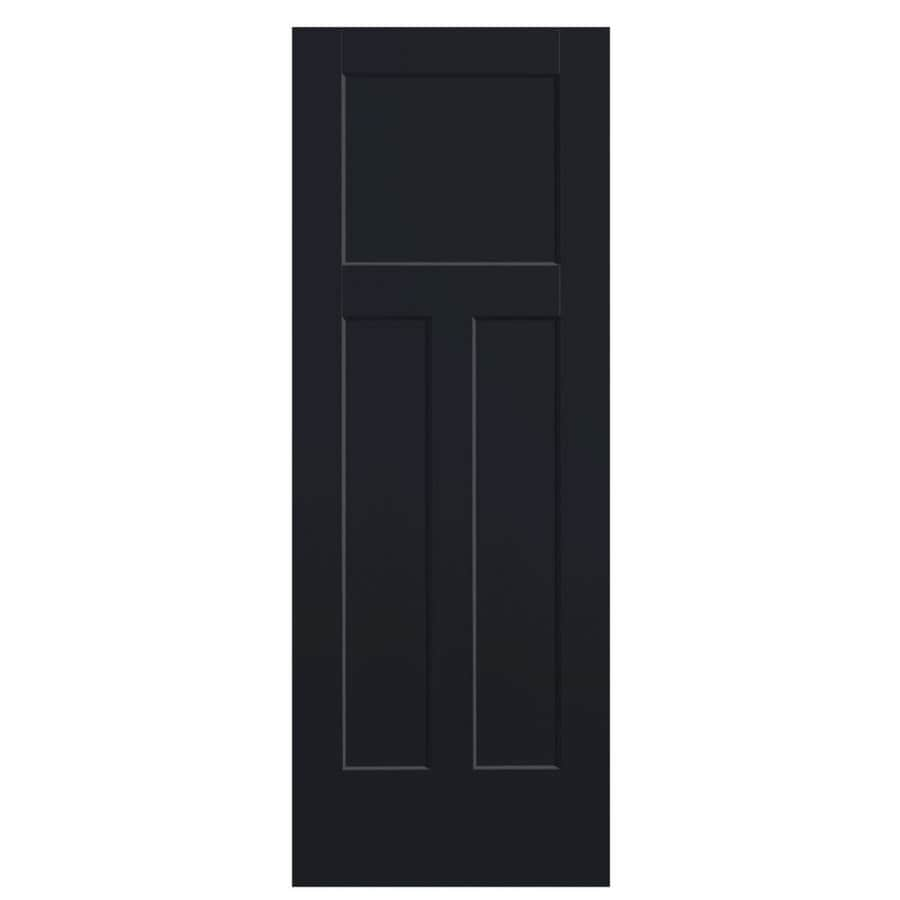 Masonite Winslow Midnight 3-panel Craftsman Slab Interior Door (Common: 30-in X 80-in; Actual: 31.5-in x 81.5-in)