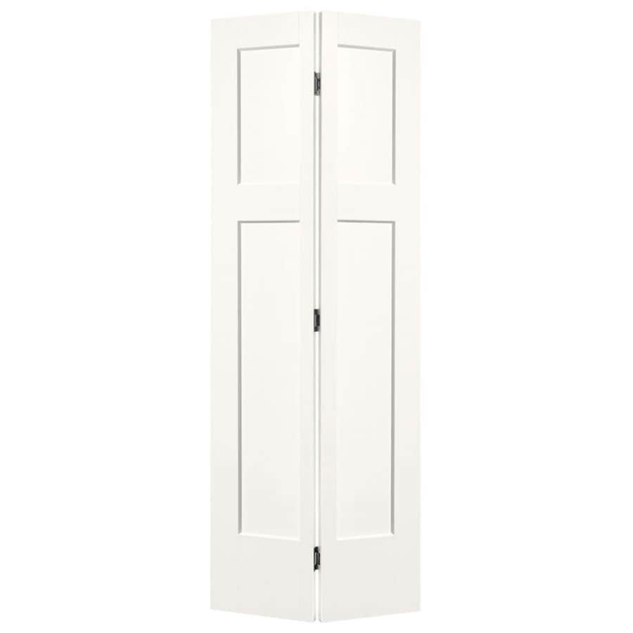 Masonite Winslow Snow Storm 3-panel Craftsman Bi-fold Closet Interior Door (Common: 24-in x 80-in; Actual: 25.5-in x 81.5-in)