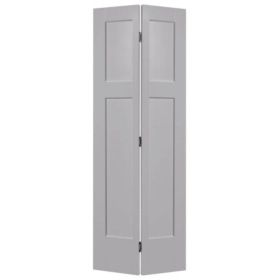 Masonite Winslow Driftwood Hollow Core 3-Panel Craftsman Bi-Fold Closet Interior Door (Common: 24-in x 80-in; Actual: 25.5-in x 81.5-in)