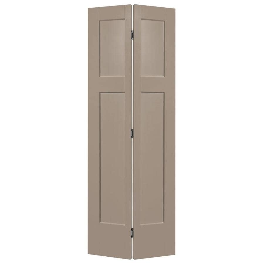 Masonite Winslow Sand Piper Hollow Core Molded Composite Bi-Fold Closet Interior Door with Hardware (Common: 24-in x 80-in; Actual: 25.5-in x 81.5-in)