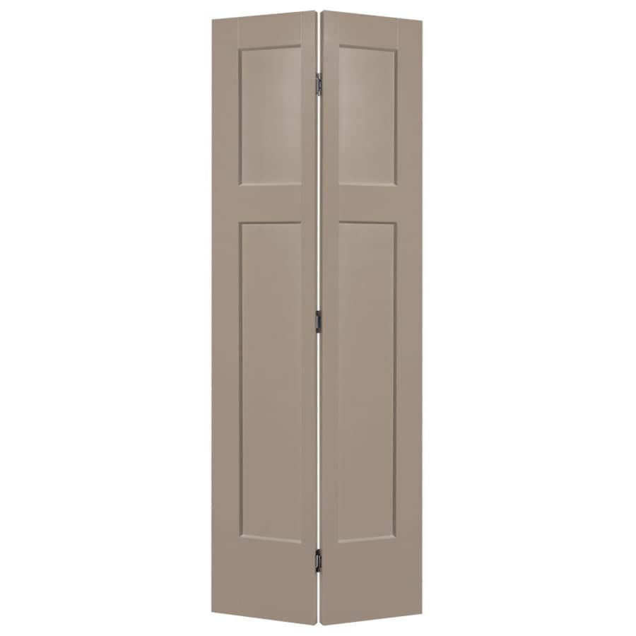 Masonite Heritage Sand Piper Hollow Core Molded Composite Bi-Fold Closet Interior Door with Hardware (Common: 30-in x 80-in; Actual: 29.5-in x 79-in)